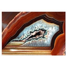 Slice of agate Canvas Art